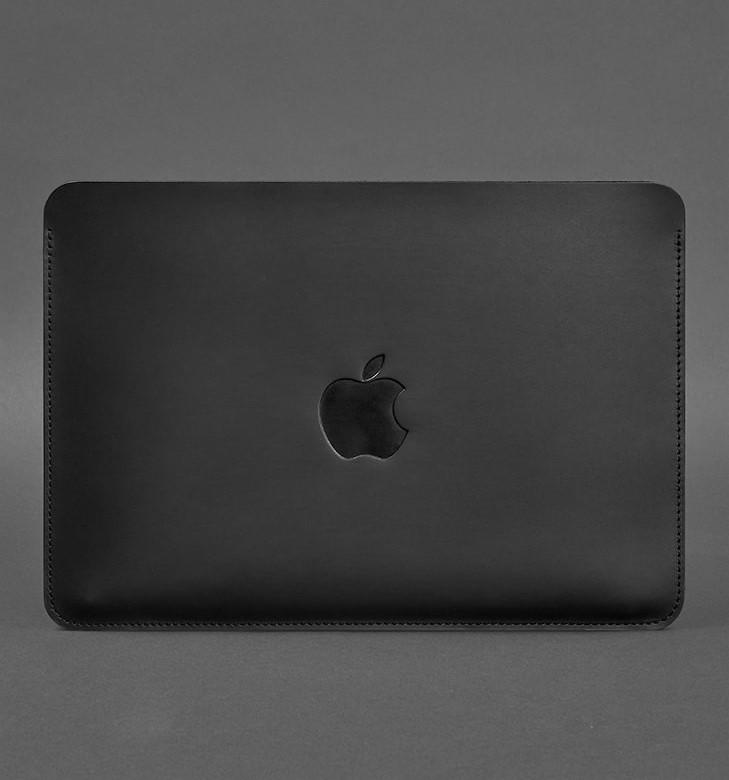Чехол кожаный для MacBook Air/Pro 13'' черный (ручная работа)