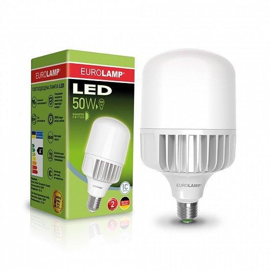 Лампа светодиодная промышленная EUROLAMP 50W E40 6500K (LED-HP-50406)