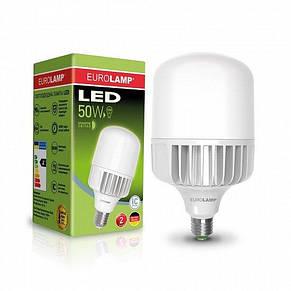 Лампа светодиодная промышленная EUROLAMP 50W E40 6500K (LED-HP-50406), фото 2