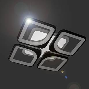 Светодиодная люстра 65 Вт с лед подсветкой и диммером СветМира LS-6654-4S