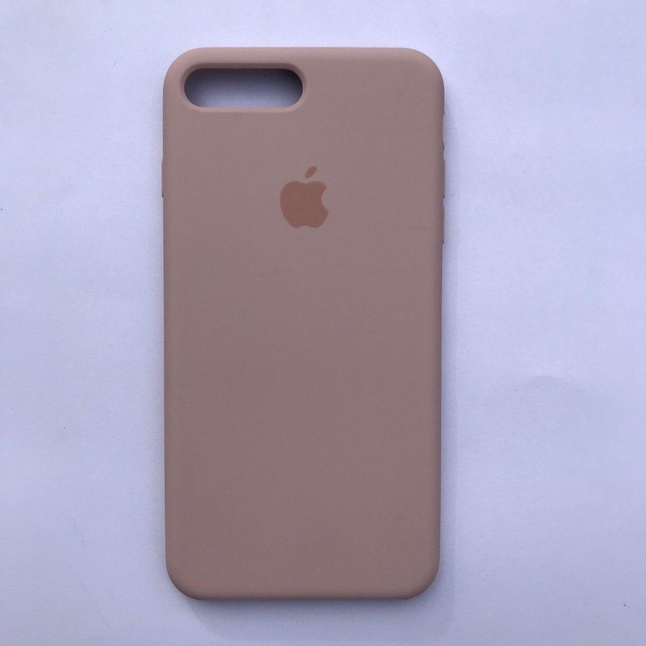 Чехол-накладка Silicone Case для Apple iPhone 7 Plus iPhone 8 Plus Pink sand