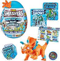 Игровой набор ZURU Smashers Dino Ice Age Mini Surprise Egg  яйцо сюрприз Трицератопс