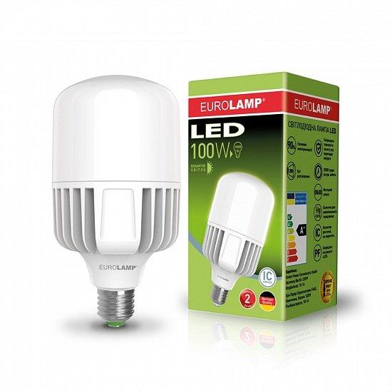 Лампа светодиодная промышленная EUROLAMP 100W E40 6500K (LED-HP-100406)