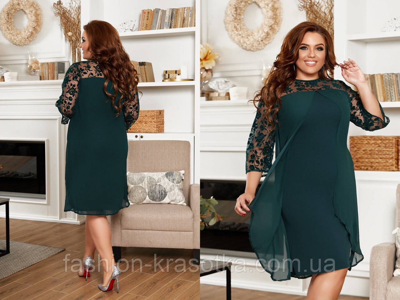 Нарядное женское платье,размеры:48,50,52,54,56.