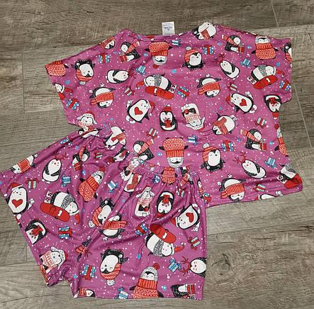 Молодежная пижама шорты + топик 120-1, фото 2