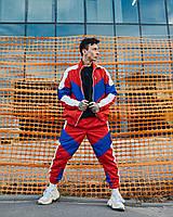Спортивный костюм унисекс Огонь Пушка Split красно-синий