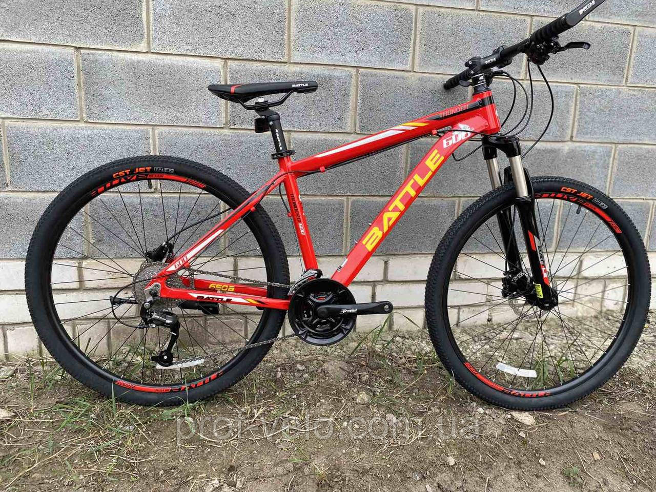"""Велосипед  BATTLE МТВ 27,5-17"""" THUNDER, красный"""