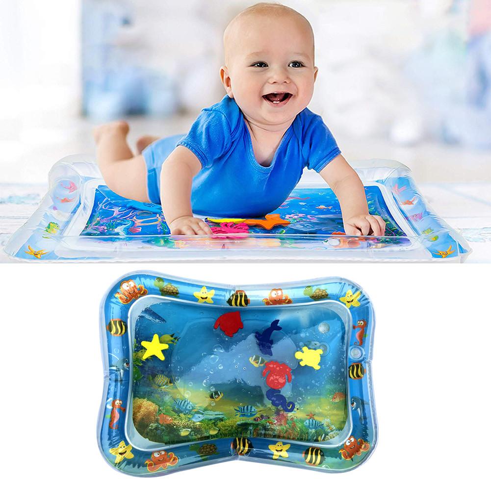 Детский водяной коврик аквариум с рыбками развивающий 65х45см