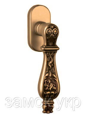 Оконная ручка с узором Fadex Siracusa 465DK бронза матовая (Италия)