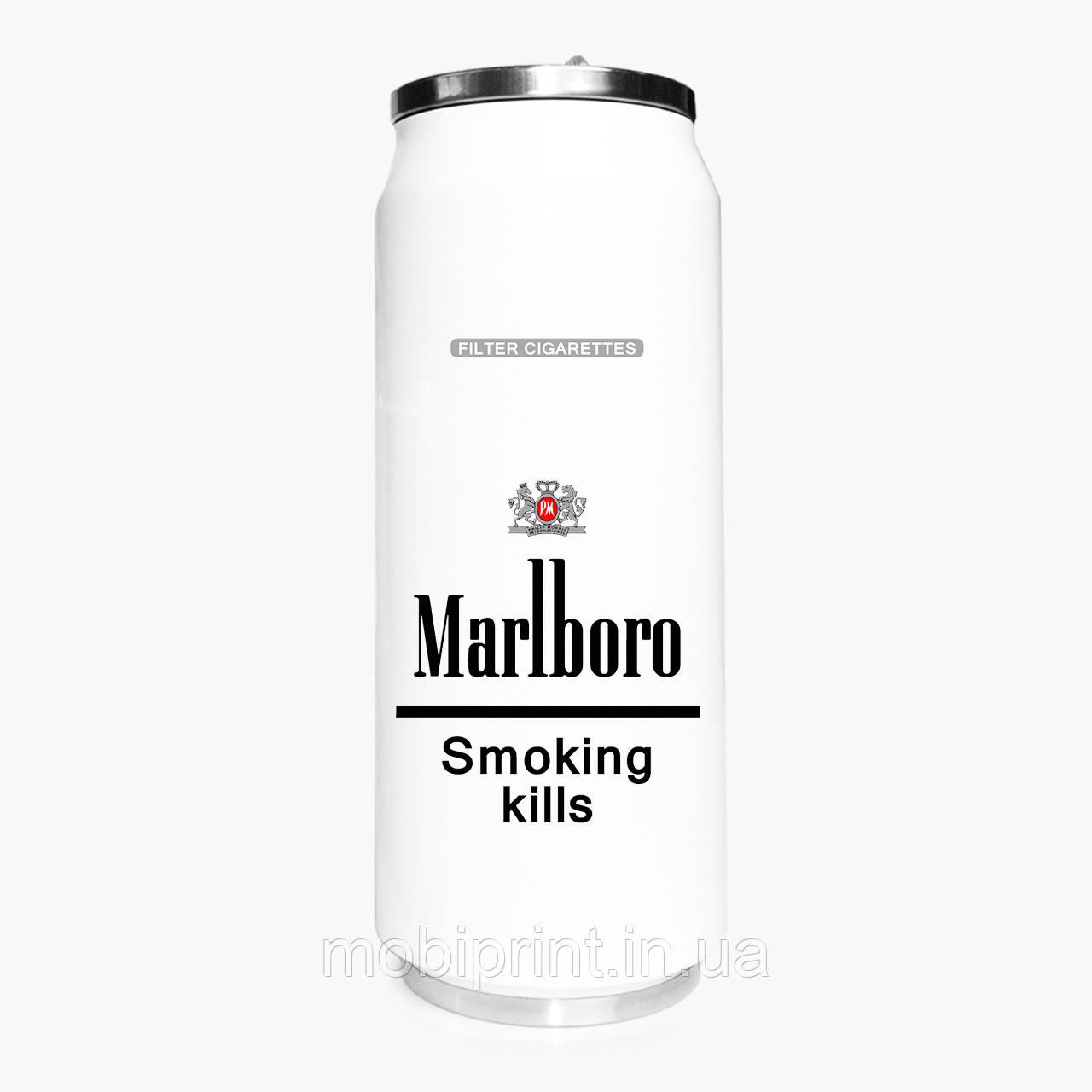 Термобанка сигарети Мальборо (Marlboro) 500 мл (31091-1639-1) термокружка з нержавіючої сталі