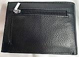 Мужской черный кожаный кошелек Genuineleather с зажимом для купюр, фото 2