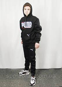 Мужская спортивная кофта - кенгурушка на флисе PUMA р.M,L,XL