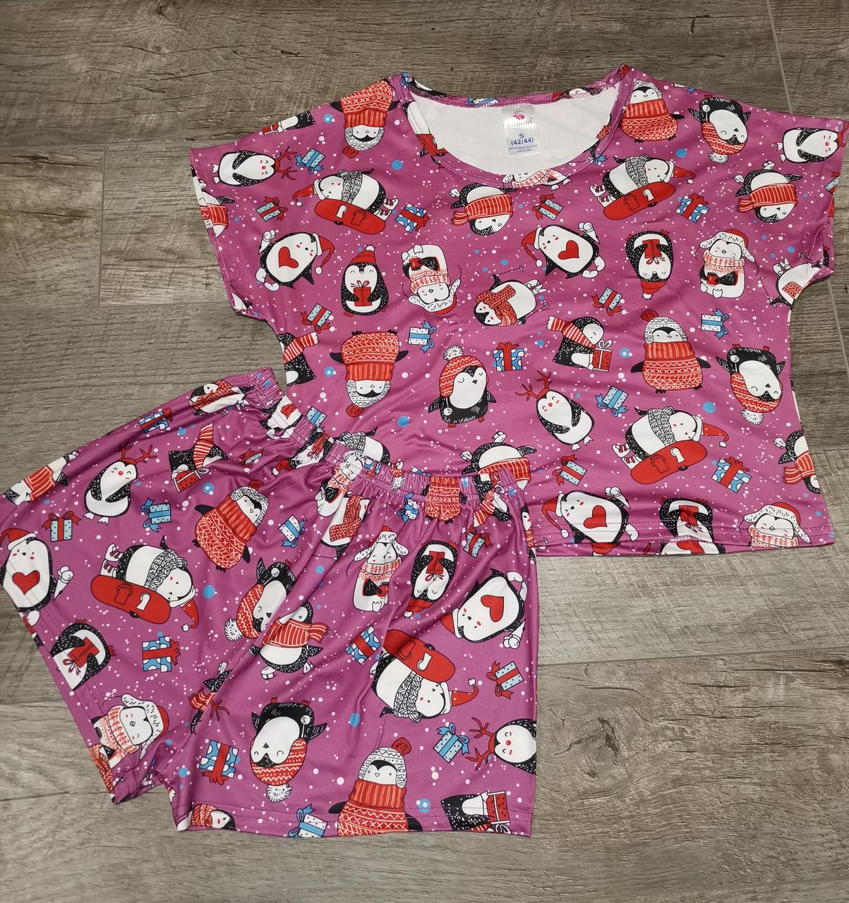 Молодежная пижама шорты + топик 120-1