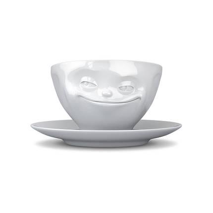 Чашка с блюдцем для кофе Tassen Хитрая улыбка 200 мл TASS14101/TA, фото 2