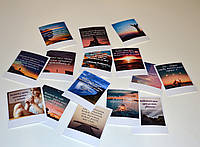 Набор мотивационных открыток 15 шт на украинском языке