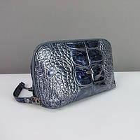 Косметичка кожаная женская клатч синий Desisan 064-13, фото 1