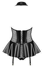 Латексное платье короткое на молнии, фото 3