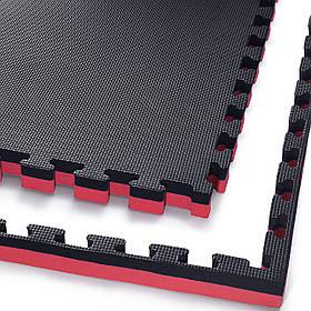 Мат-пазл (ласточкин хвост) 4FIZJO Mat Puzzle EVA 100 x 100 x 4 cм 4FJ0199 Black/Red