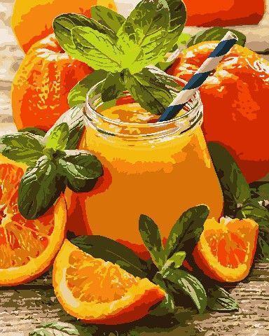 Картина рисование по номерам ArtStory Апельсиновий джем 40х50см AS0769 набор для росписи, краски, кисти, холст