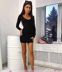Сукня коктейльне з декольте і довгим рукавом віскоза