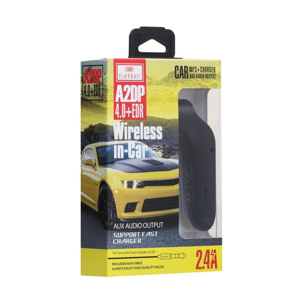 ФМ модулятор для телефона в авто MP3 USB и micro-SD ET- C7 Earldom (ЦУ-00022501)
