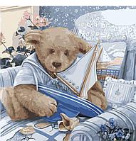 Картина рисование по номерам Идейка Плюшевый юнга КНО2311 40х40см набор для росписи, краски, холст, кисти