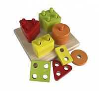 Игрушка из дерева Геометрический сортер (квадрат) CUBI_13791 Cubika