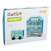 """Игрушка из дерева Конструктор """"Market"""" LDK2 CUBI_15122 Cubika"""