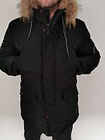 Зимова чоловіча куртка чорна подовжена