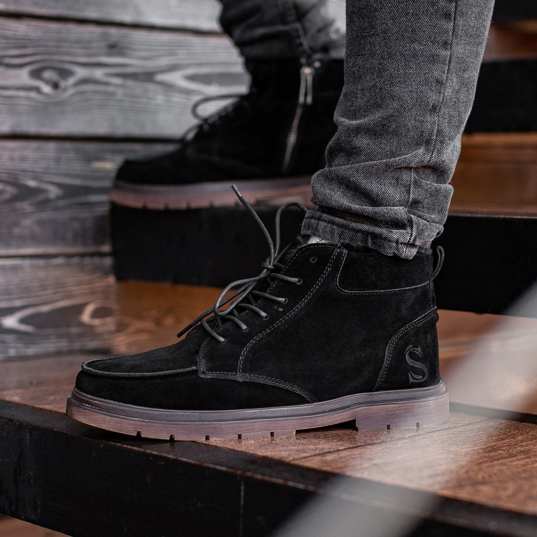 Мужские Зимние черные ботинки South Flip