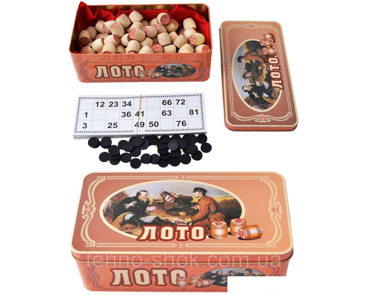 Настольная игра Русское Лото в жестяной коробке