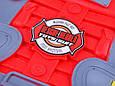 Игровой набор пожарника F015C каска, мегафон, фонарик. Брызгает водой, фото 6