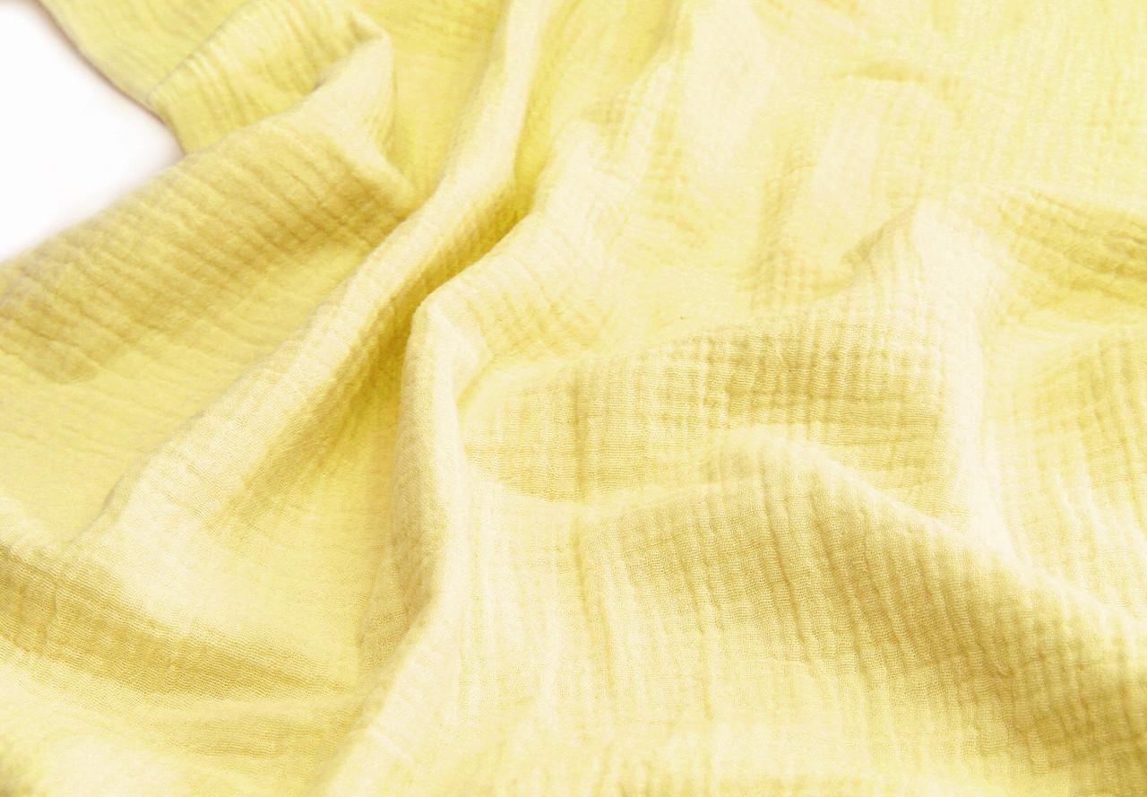 Муслин жатка Лимонно-желтый 135 см
