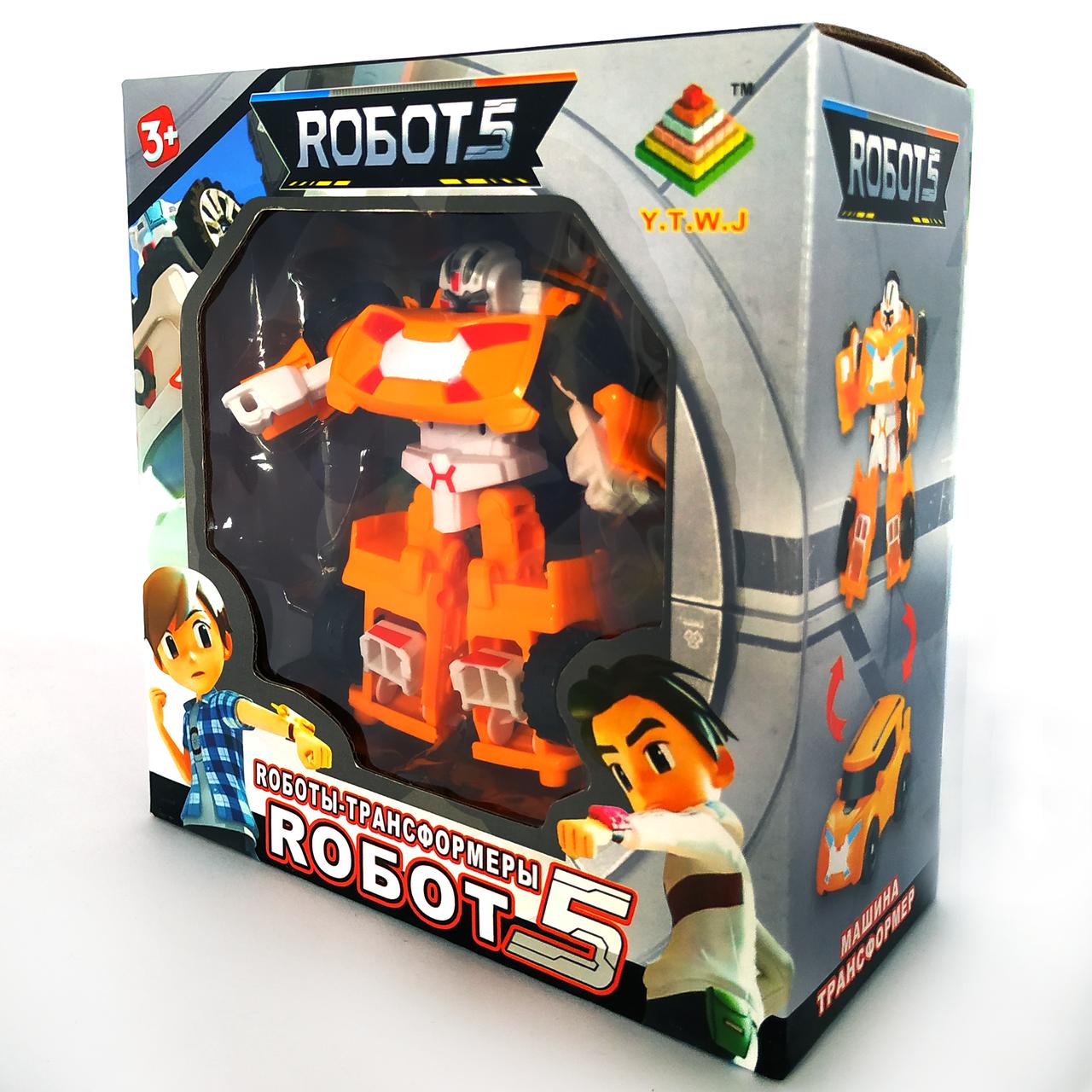 Робот трансформер Тобот Атлон | Tobot X мини оранжевый (12см)