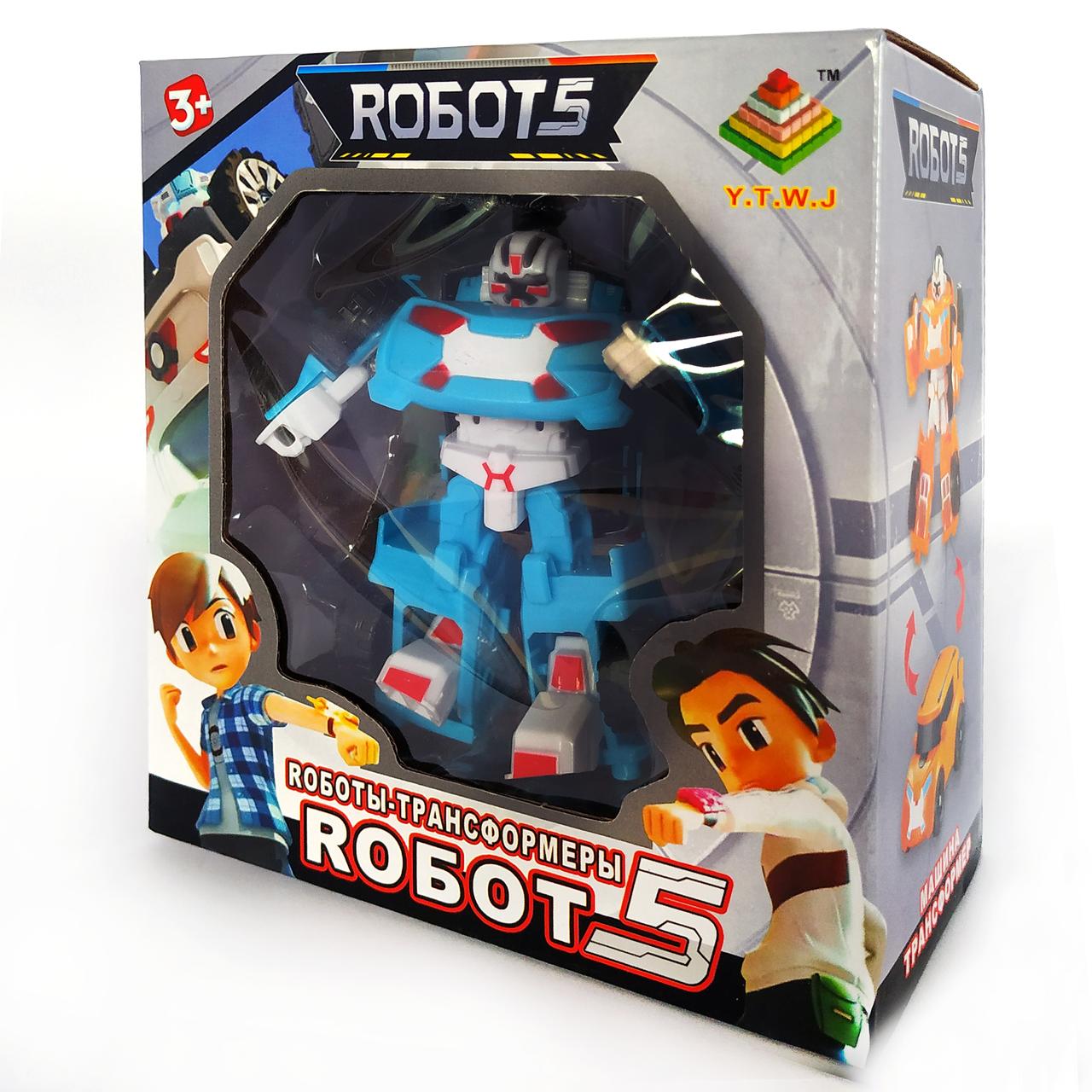 Робот трансформер Тобот Атлон | Tobot X мини голубой (12см)
