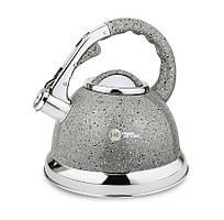 Чайник из нержавеющей стали  с гранитным покрытием 3,5 л  со свистком Higer Kitchen ZP-021