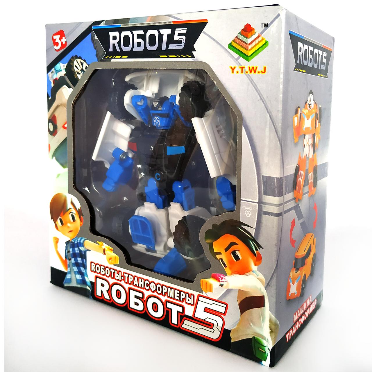 Робот трансформер Тобот Атлон    Tobot C мини синий (12см)
