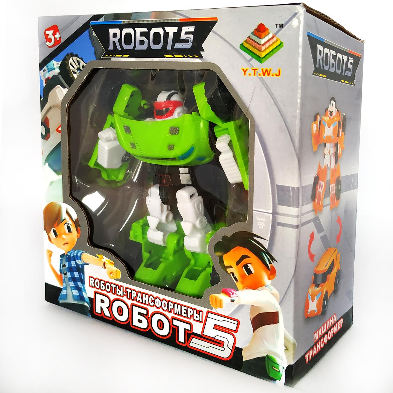 Робот трансформер Тобот Атлон  | Tobot Z мини салатовый (12см)