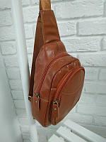 Кожаная сумка рыжая, фото 1