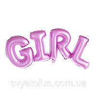 Фольгований куля напис Girl Китай