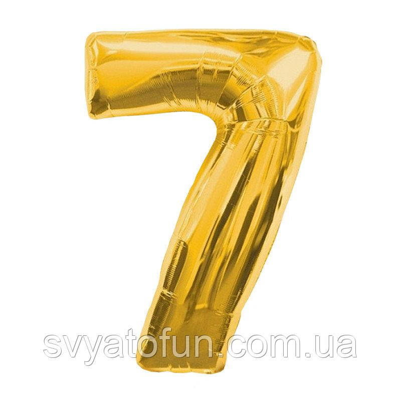 Фольгированный шар цифра 7 золото 70см Китай