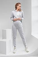 Теплі спортивні штани для вагітних, сірі 2106 1433