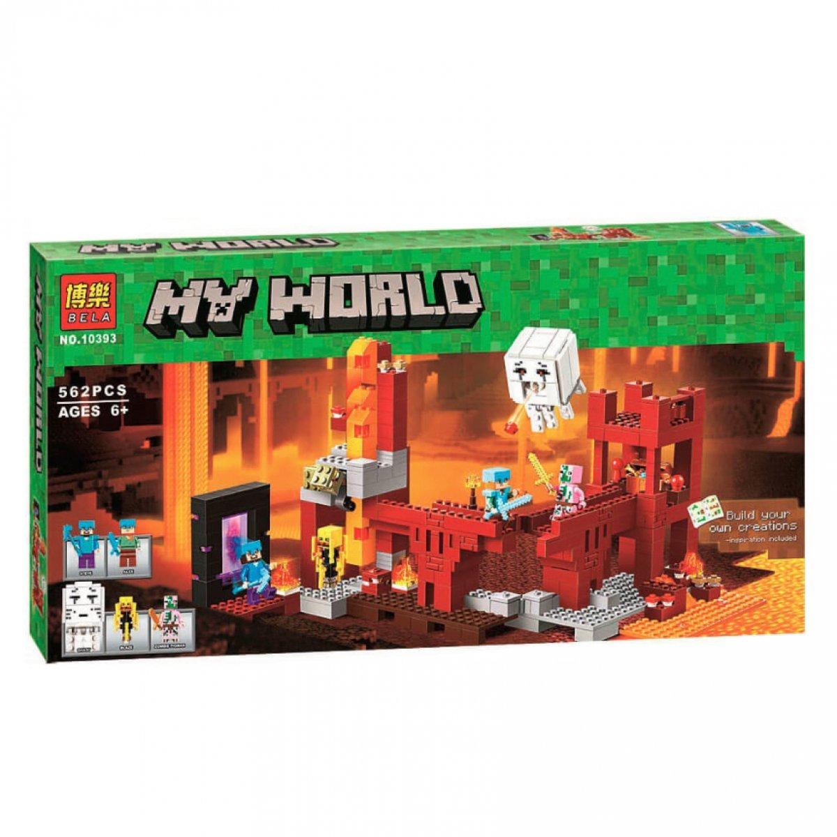 """Конструктор BELA Minecraft """"Підземна фортеця"""" 571 деталь"""