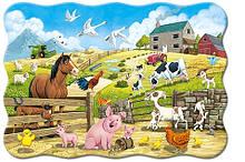 Пазлы Животные на ферме, 20 элементов maxi, Castorland С-02429