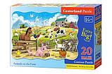 Пазли Тварини на фермі, 20 елементів maxi, Castorland З-02429, фото 2