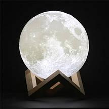 Настольный светильник ночник сенсорный на аккумуляторе Лампа Луна Magic 3D Moon Lamp 13 см, фото 3