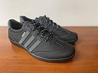 Туфли мужские спортивные черные  ( код 5540 ), фото 1