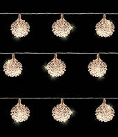 "Гирлянда ""Серебристые шарики"", 1,05 м, фото 1"