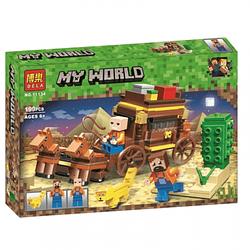 """Конструктор BELA Minecraft """"Подорож по Єгипту"""" 199 деталей"""