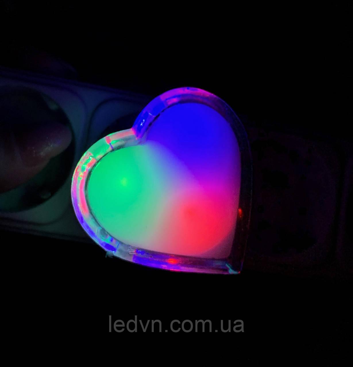 Детский ночник сердечко LED